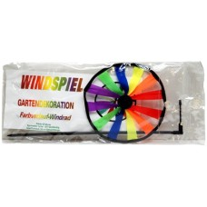 Windmill single with wooden stick 18 cm