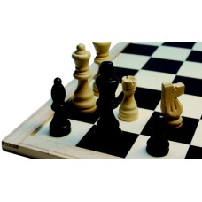 Chessmen 77 mm.Staunt.3 natur/black * delivery time unkown *