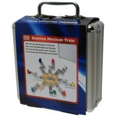Domino Mexican-Train Double 12 alum. case