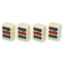 Mah-Jong urea-plastic Stones bl.vinyl case
