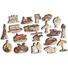 Wooden puzzle Antique world map XL 600