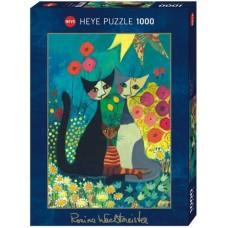Puzzle Flowerbed,Wacht.1000 Heye 29616