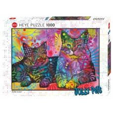 Puzzle Devoted 2 Cats 1000 Heye 29864