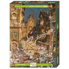 Puzzle Romantic Town Ni.1000 Heye 29875