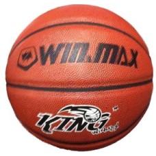 Basketbal KING Synth.leder oranje mt.7