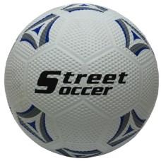 Voetbal Rubber-Straat wit/grijs-blauw.Mt.5