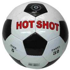 Voetbal HOT-SHOT wit/zwart glans mt.5