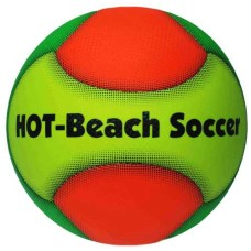Strandvoetbal HOT Beach mt.5 gro/ora/geel