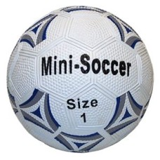 Soccerball mini Rubber size 1 white/blue 13 cm * expected week 20 *