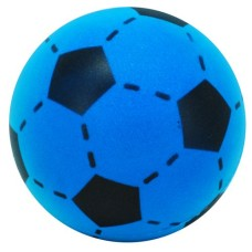 Soccerball foam-rubber blue/black 20 cm.