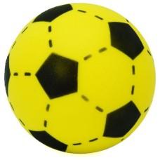 Soccerball foam-rubber yellow/black 20 cm.