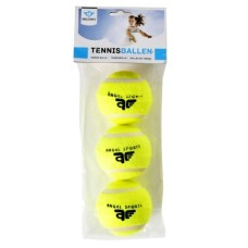 Tennisballs 3 in bag yellow ANGEL