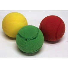 Soft tennisballs 3 pcs.3 colours 68 mm.