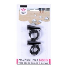 Boules magnet with cord 2 pieces on blister