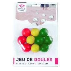 Boules/Pétanque10 BUT balls Wood 30mm.Fluor