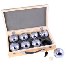 Boules/ Pétanque set 8 balls 720gr.case wood * expected week 16/17 *