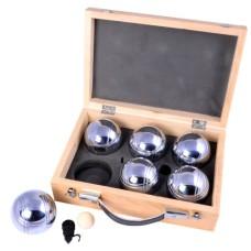 Boules/Pétanque-case wood 6 balls 2x3  720gr * expected week 16 *