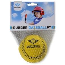 Honkbal PVC cover Geel gestikt in net.