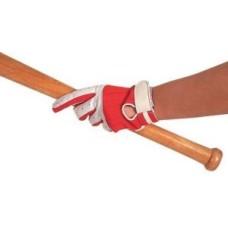 Honkbal-slag-handschoen wit leder LINKS, mt. 12 * laatste exemplaar *