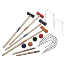 Croquet game Wood 4 players 57 cm. in net * delivery time unknown *