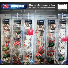 Dart flights Winmau 60 sets mixed on card