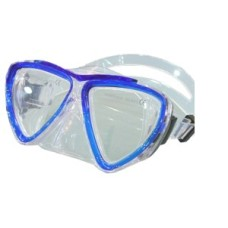 Duikmasker KID Blauw Tr.Silicone Shallow