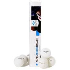 6 white table-tennis balls per box 40mm caliber