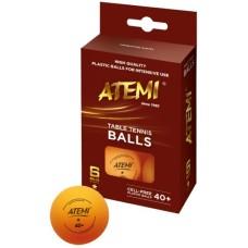 Table-tennis ball ATEMI 1 Star orange/6pcs