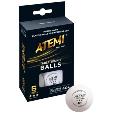 Table-tennis ball ATEMI 3 Star orange/6pcs.