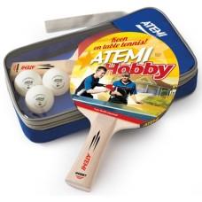 T.T.SET Atemi Hobby 2 rackets w.3 balls in etui