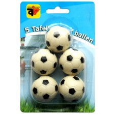 Soccer game ball 5 x white/bla.+profile 32mm.