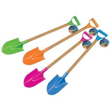 Shovel plastic 84 cm wooden handle 4 coul