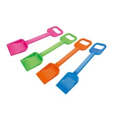 Plastic shovel w/ ribbed surface 4 colours