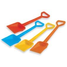 Shovel D model, plastic 50 cm. 4 ass.
