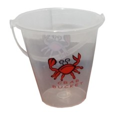 Plastic sandbucket transpar.Crab 19x18cm * Expected week 29 *