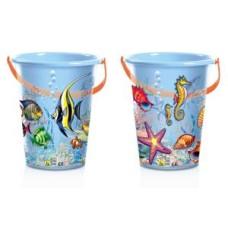 Bucket Fisch trans.plastic 23x22x13cm.2 ass.