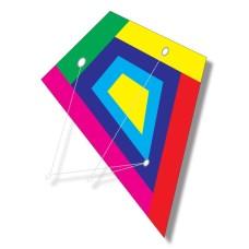 Kite Stunt Pilot Diamant rainbow 2 lines