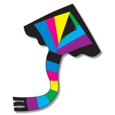 Vlieger Delta Rainbow nylon 1lijn 91x137cm