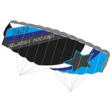 Parafoil-Kite Black Raven 2.0 Knoop 200 cm * delivery time unknown *