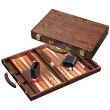 Backgammon 1109 dark-wood 38x24 cm.