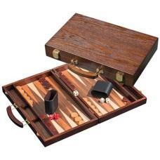 Backgammon 1109 hout 38x24cm.donkerbruin