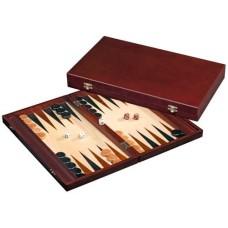 Backgammon cassette bruin MDF 41 x 24 x5 cm.