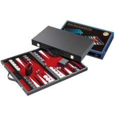 Backgammon black inlaid felt red 38cm