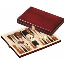 Backgammon 1100 kist bruin 19,5x12,5 cm.
