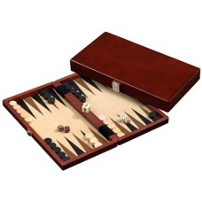 Backgammon 1113 kist bruin 28,5x15,5 cm.