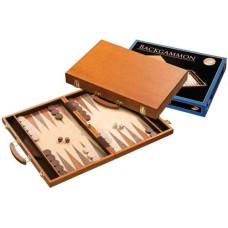 Backgammon 1104 Kof.Br.Hout ingel.46x30cm.