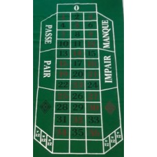 Roulette-kleed 180x90cm.groen vilt China