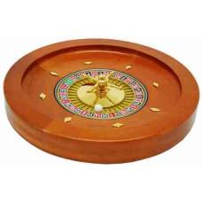 Roulette bak 36 cm Mahonie hout/metaal
