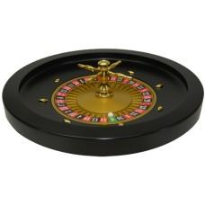 Roulette bak 52 cm.Zwart Hout MDF/ kogel
