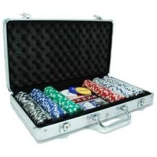 Poker-koffer Alu.300 Dice-Fisches 11 gr.HOT